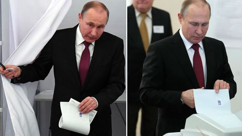 Putin is 'certain' to win despite the ballot stuffing claims (AAP)