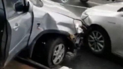 The car's driver returned a negative breath test after the Eastwood, Sydney, crash.