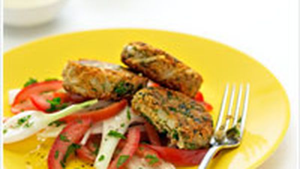 Falafel with parsley salad
