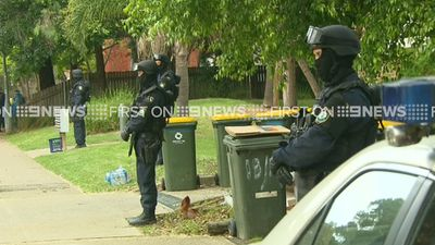 Police have removed a large quantity of evidence since arriving at the home this morning.