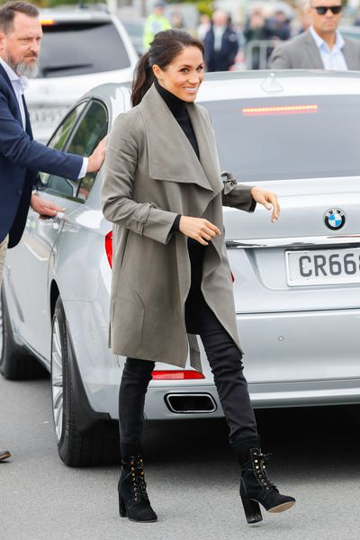 Meghan, Duchess of Sussex visiting Maranui Cafe on October 29, 2018 in Wellington, New Zealand.