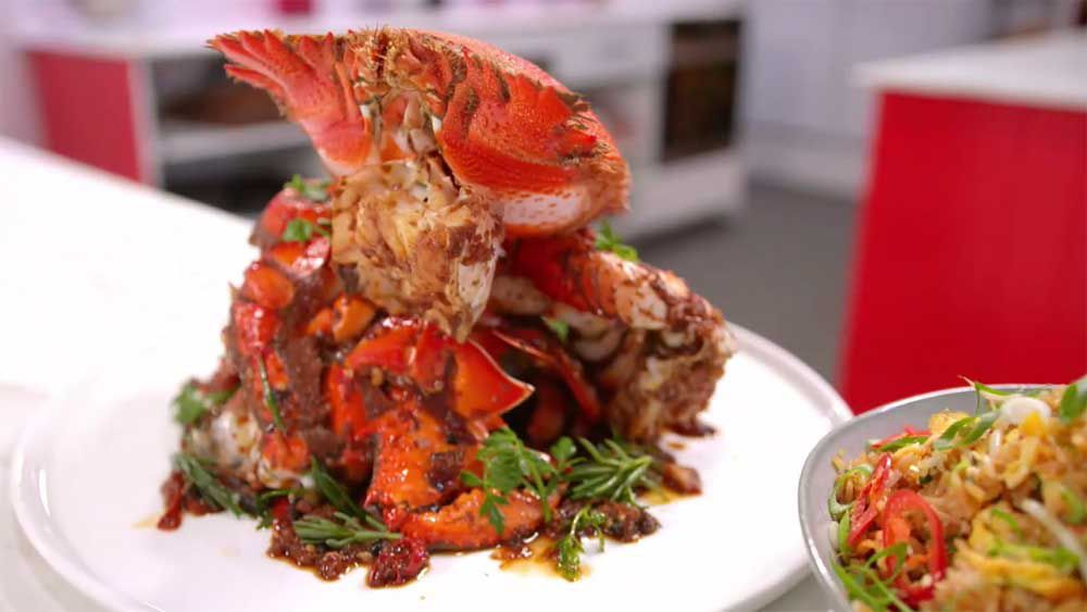 Kylie Kwong's spanner crab with chicken rice and Family Food Fight