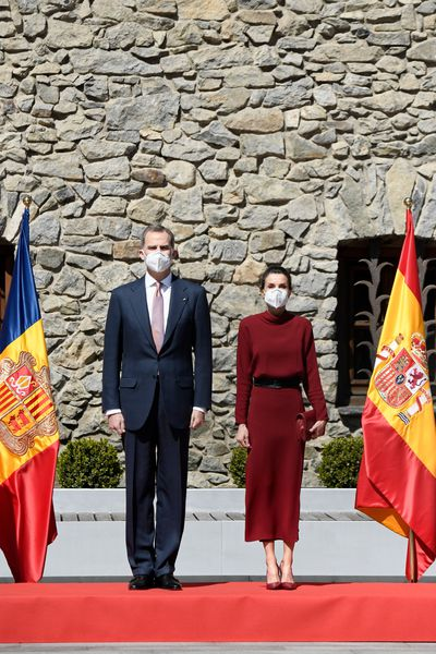 King Felipe and Queen Letizia visit Andorra, March 2021