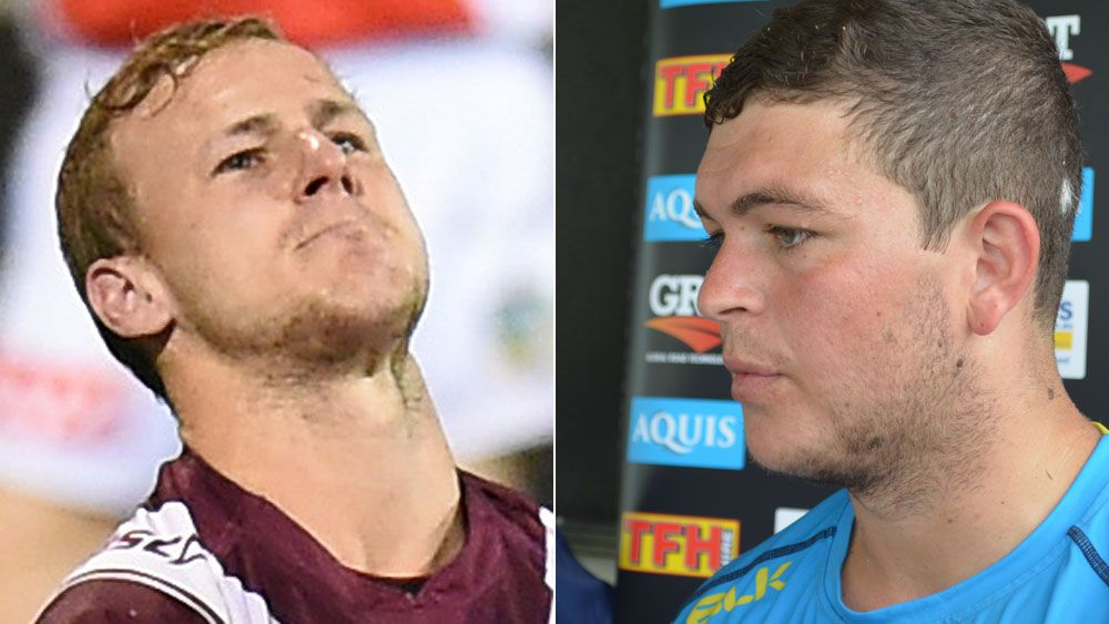 Daly Cherry Evans and Ash Taylor. (AAP)