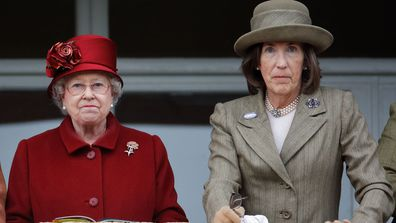 Queen Elizabeth II and Lady Celia Vestey attend day 4 'Gold Cup Day' of the Cheltenham Festival at Cheltenham Racecourse on March 13, 2009 in Cheltenham, England