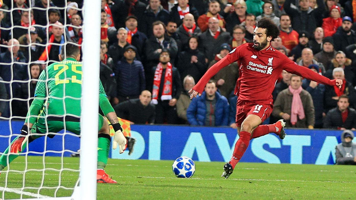 Mo Salah scores for Liverpool