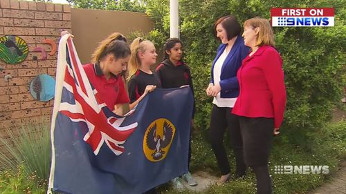 Students at Richmond Primary School are getting a second flagpole.