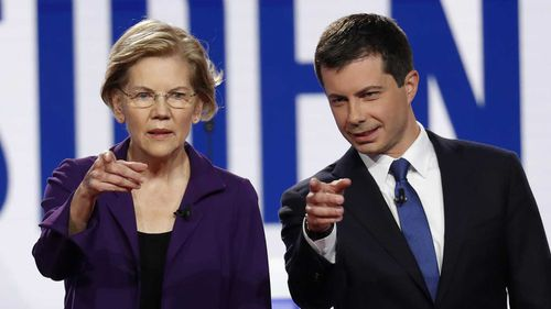 Elizabeth Warren and Pete Buttigieg are major contenders for the Democratic nomination.
