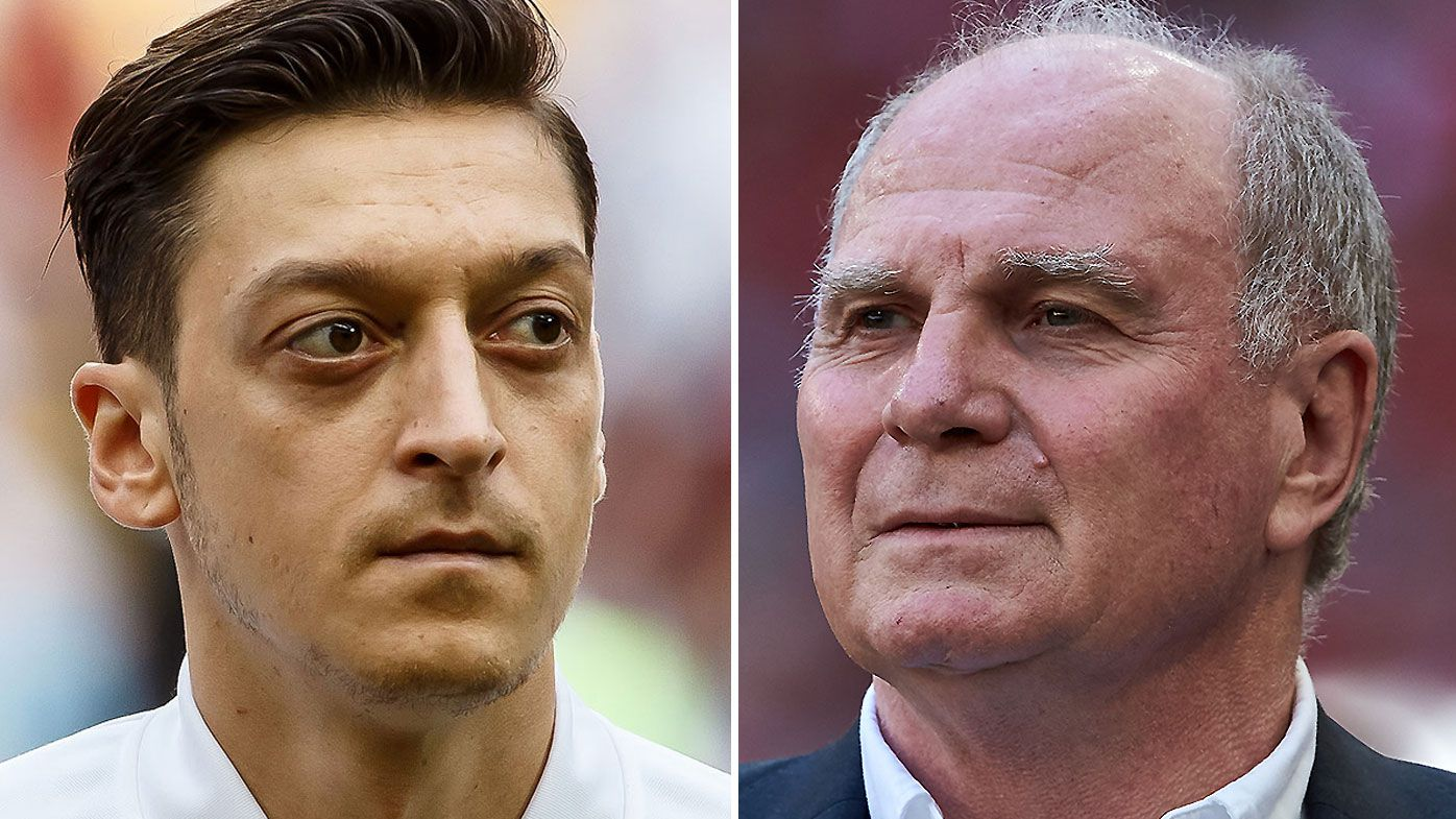 "Mesut Ozil's agent slams Bayern president Uli Hoeness for ""foolish"" comments"