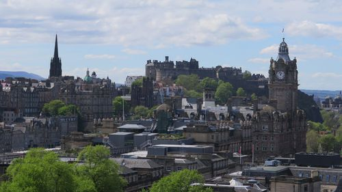 It's even been warm in Scotland. There's been nothing but blue skies during our stay and Edinburgh is abuzz. (Picture: 9NEWS/Natalia Cooper)