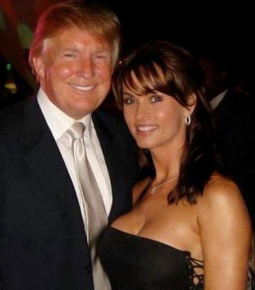 Donald Trump with Karen McDougal. (Twitter)