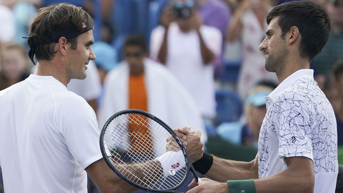 Roger Federer and Novak Djokovic