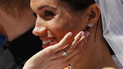 Close up of Meghan Markle's royal wedding manicure.