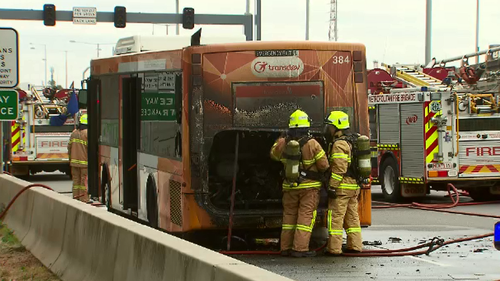 Passengers flee after bus catches fire in South Melbourne