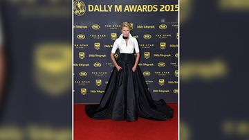 Tegan Martin arrives for the Dally M Awards. (AAP)