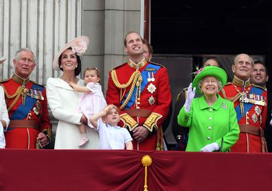 The Queen appears alongside Kate, Prince William and there two children