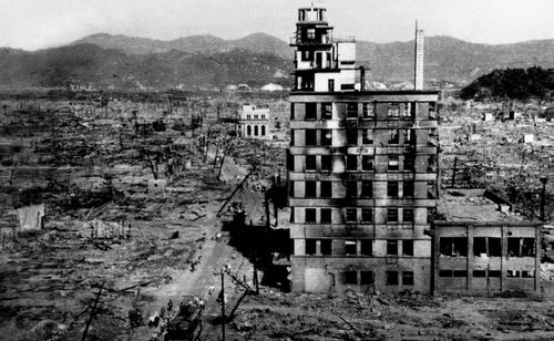 Ground zero at Hiroshima after the atomic bomb exploded 73 years ago. (Photo: AP).