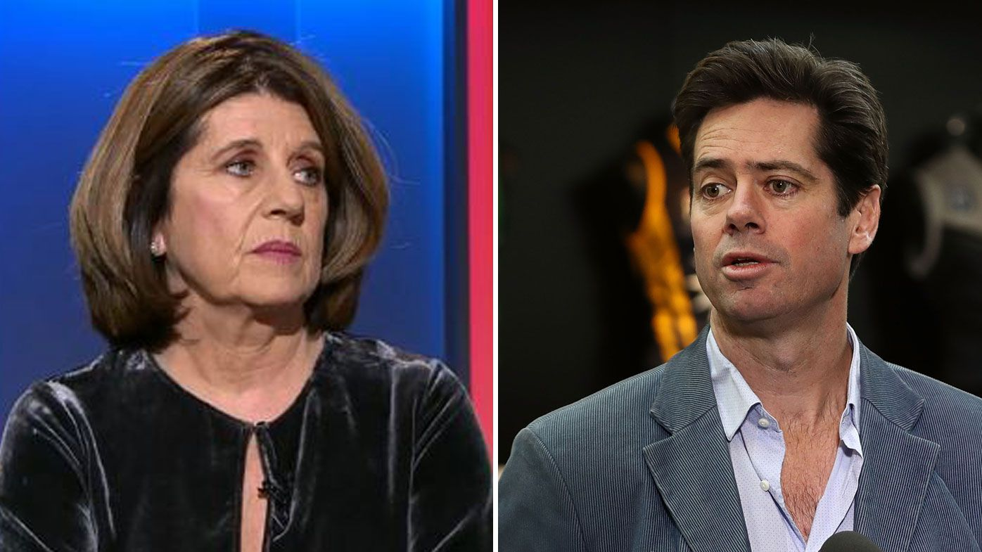 Caroline Wilson (left) and Gillon McLachlan