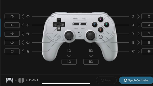 The SN30 Pro 2 is fully customisable using the 8BitDo Ultimate app.