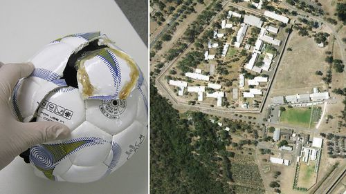 Soccer balls stuffed with contraband intercepted at NSW prison