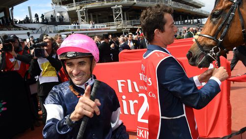 """Jockey Corey Brown told reporters after the race he """"couldn't believe it."""""""