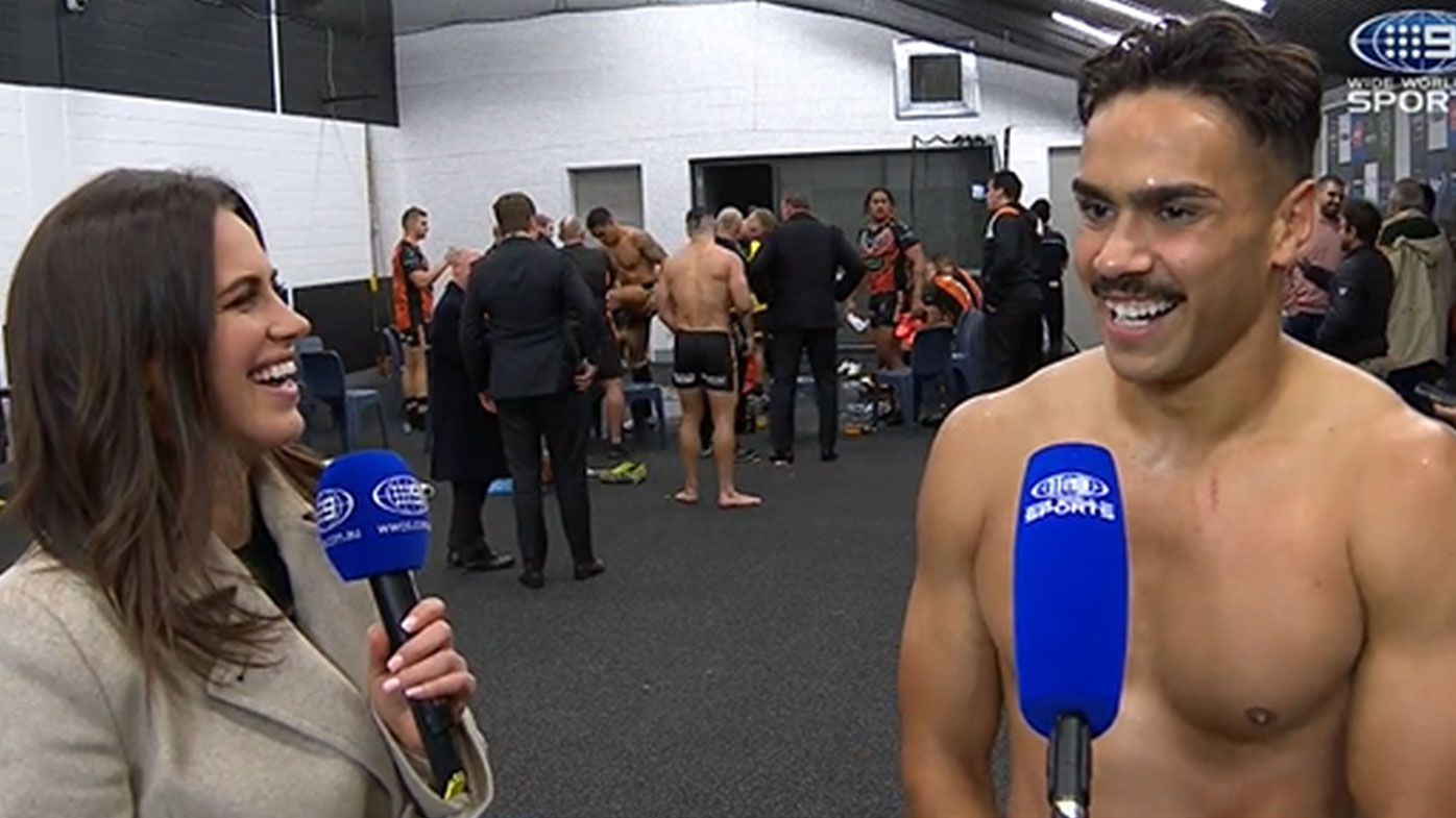 'Spewed up in the toilets': Indigenous Tiger Daine Laurie reveals nerves got the better of him pre-game