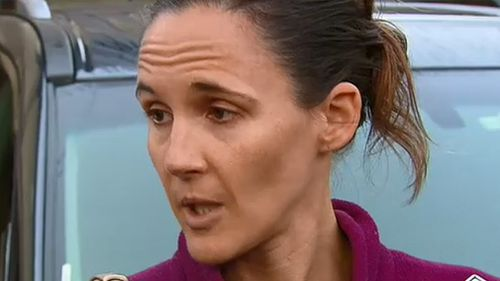 Joanne Diment said her husband helped the bleeding woman in her home before emergency services arrived. Picture: 9NEWS