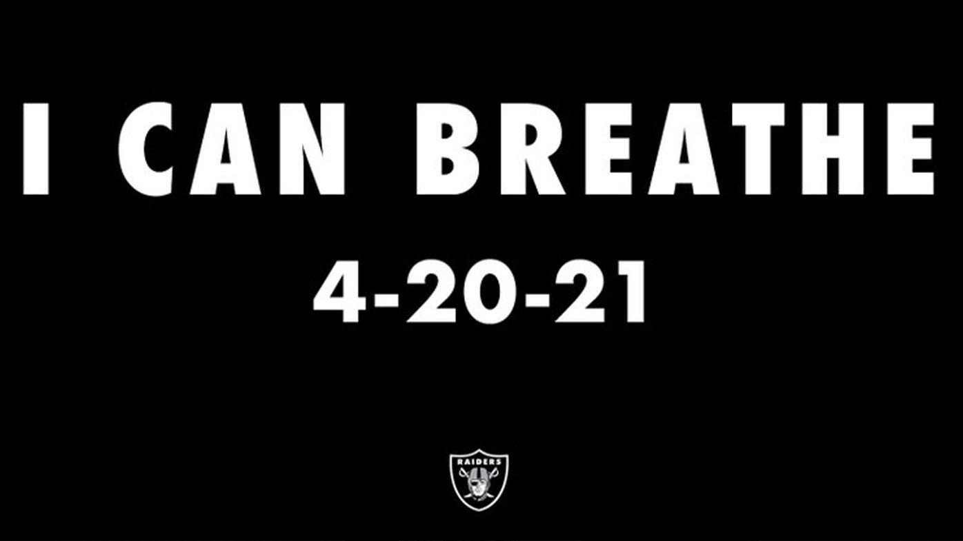The image tweeted by the Las Vegas Raiders