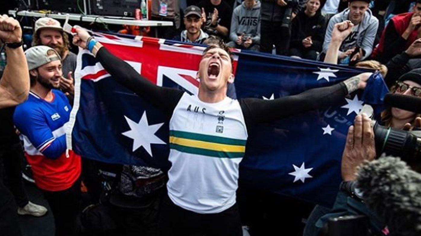 Australia dominates BMX freestyle championships with Brandon Loupos winning first world title