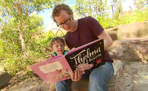 The researchers found that in 60 percent of families, both mums and dads did the reading. (9NEWS)