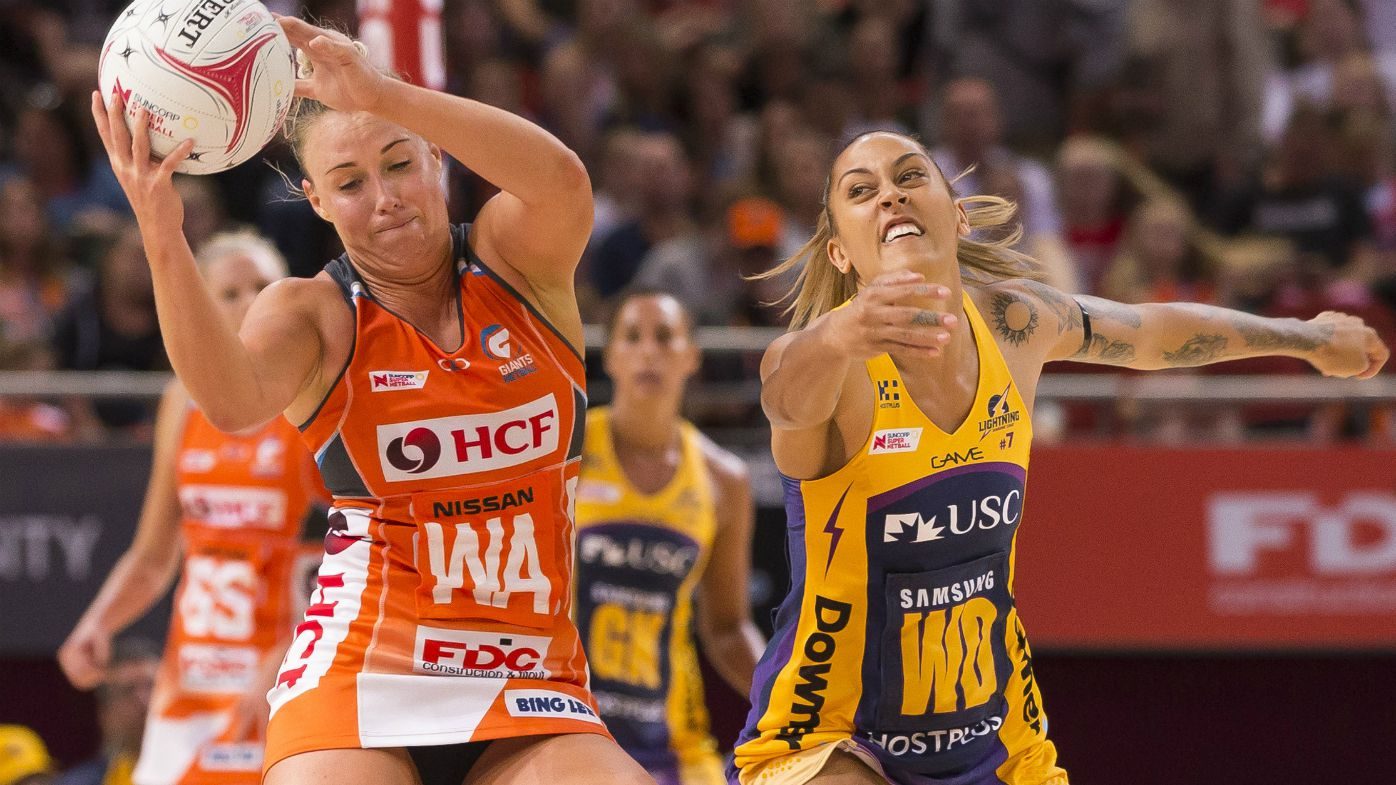 Kimberlee Green of the Giants during the Super Netball