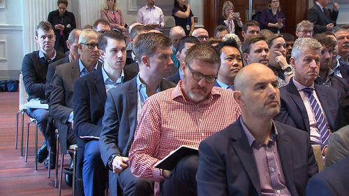 Local and international companies have gathered to hear how they could benefit from the project. Picture: 9NEWS