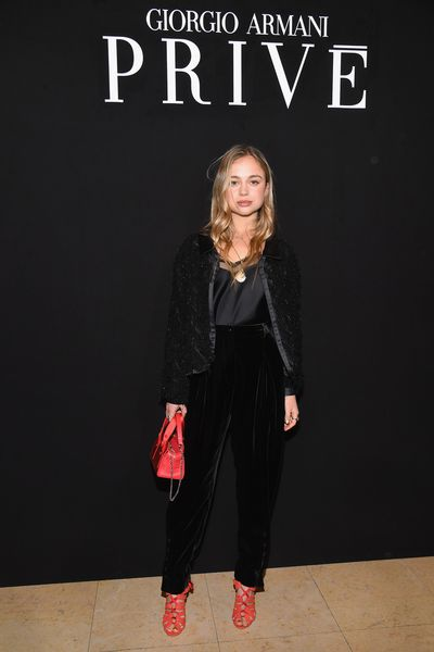 Lady Amelia Windsor at the Giorgio Armani Prive Haute Couture Spring Summer 2018 show for Paris Fashion Week, January, 2018