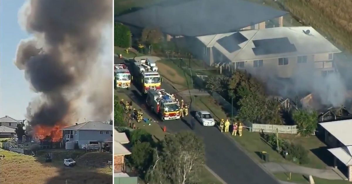 Heavy machinery to sift through rubble of Queensland house following deadly fire – 9News