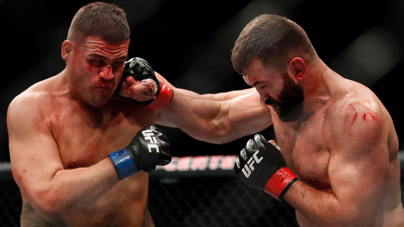 Tai Tuivasa celebrates triumph on UFC 225 undercard with glorious shoey