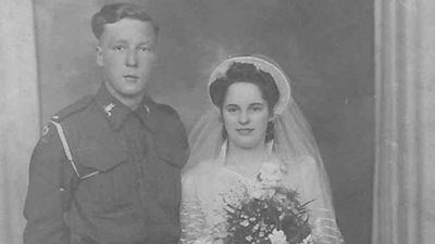 "<p>Teenage sweethearts from England who went on to spend seven decades together in love have both died on the same day from the same illness. </p><p> Joan and Walter Moss married in 1943 when he was 19 and she 17. </p><p> After their wedding Walter went off to fight in World War II and was part of the British forces that landed in France on D-Day in June, 1945. </p><p> The proud grandparents hated being apart for more than a day and when Walter developed dementia, Joan continued to care for him in their home in Salford, The Mirror reports. </p><p> Joan's cousin, Ivy Dickens, said ""as soon as he set eyes on Joan there was no other girl for him. </p><p> ""She was very pretty … Walter was good looking, and they were a handsome pair. </p><p> ""Joan's father refused to let them get married - but knowing Walter would soon be going overseas he relented."" </p><p> In March the loving couple were both admitted to Salford Royal Hospital — Walter for an infection and Joan with a collapsed lung. </p><p> Husband and wife were kept in wards only metres from each other and at about the same time they developed pneumonia. </p><p> </p>"