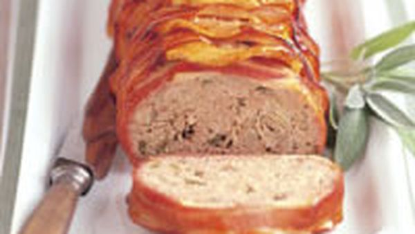 Glazed pork and veal apple meatloaf