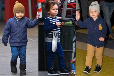 His mum's a Victoria Secret model and his dad's well...a hottie. It doesn't surprise us that this three-year-old already has a signature style sorted. <br/><br/>And by signature style, we mean mini-bombers and woolly beanies. <br/>