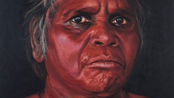 A chance encounter between an artist and an Indigenous elder has resulted in this year's Archibald Prize People's Choice Award winning portrait.