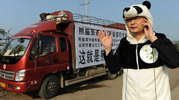 Man markets panda poo tea