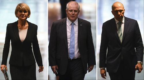 Julie Bishop, Scott Morrison and Peter Dutton are all putting their hands up for leadership.