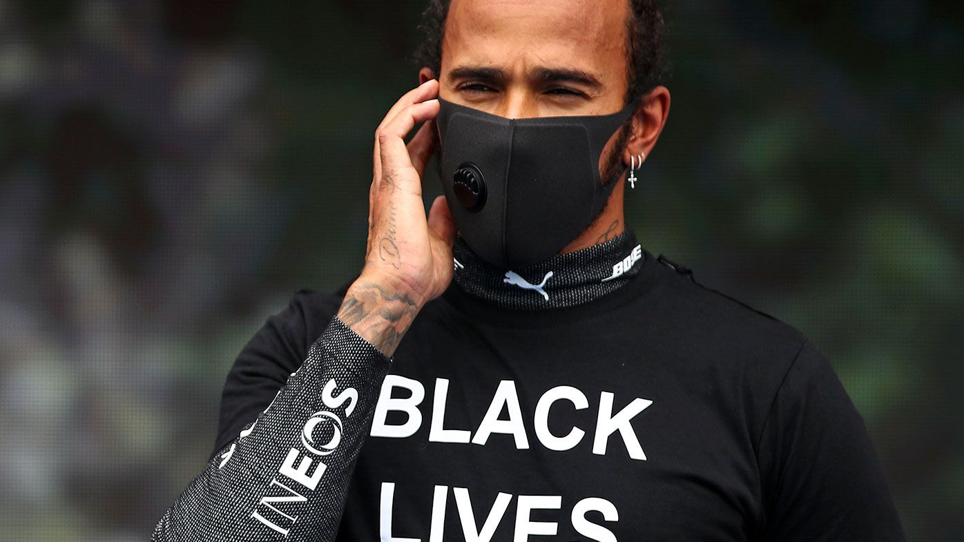 Lewis Hamilton prior to the Hungarian Grand Prix.