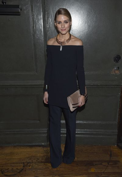 Style icon Olivia Palermo - loves the off-the-shoulder trend. Obvs.