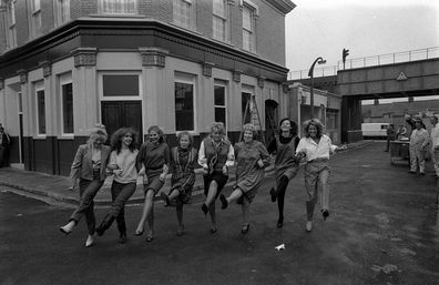 'EastEnders' cast Letitia Dean, Susan Tully, Shirley Cheriton, Gretchen Franklin, Wendy Richard, Anna Wing, Sandy Ratcliff and Gillian Taylforth.