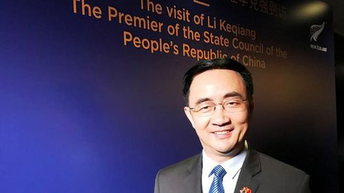 Mr Yang visiting China for a gala luncheon with Li Keqiang, the Premier of the State Council of the People's Republic of China, in March. (Facebook)