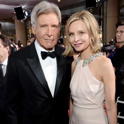 Calista Flockhart and Harrison Ford.