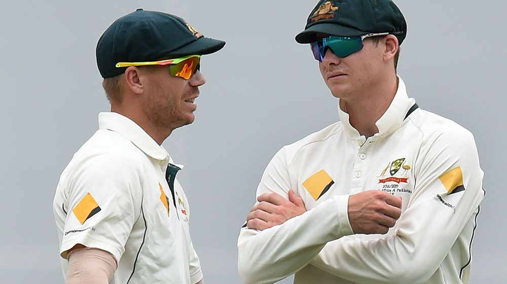 David Warner and Steve Smith. (AAP)