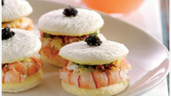 Steamed scampi sandwiches