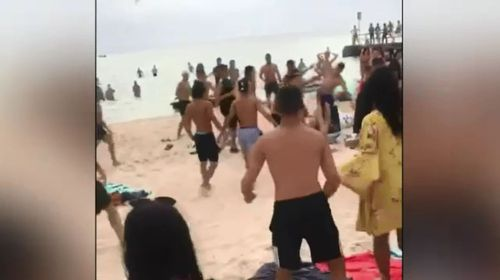 Violence has also taken place on the beaches.