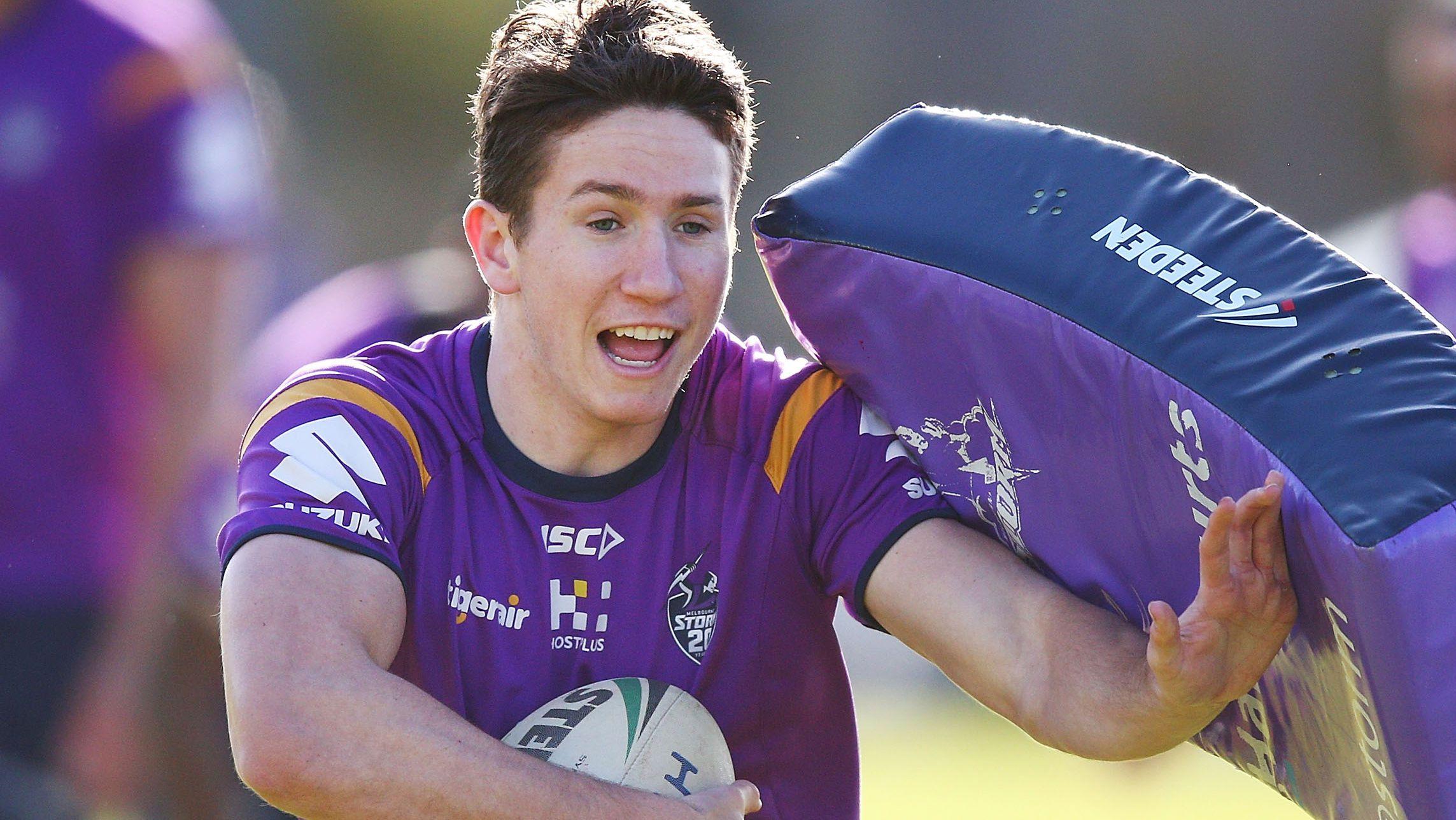 Matthew Johns' son Cooper in frame for Melbourne Storm halfback start